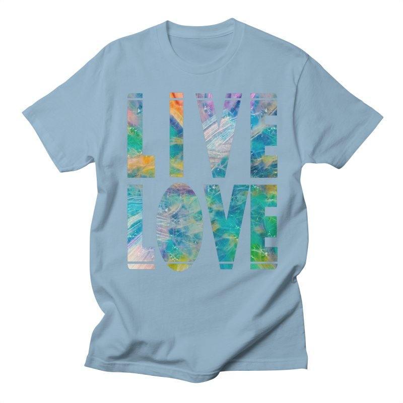 Live Love Men's Regular T-Shirt by An Authentic Piece