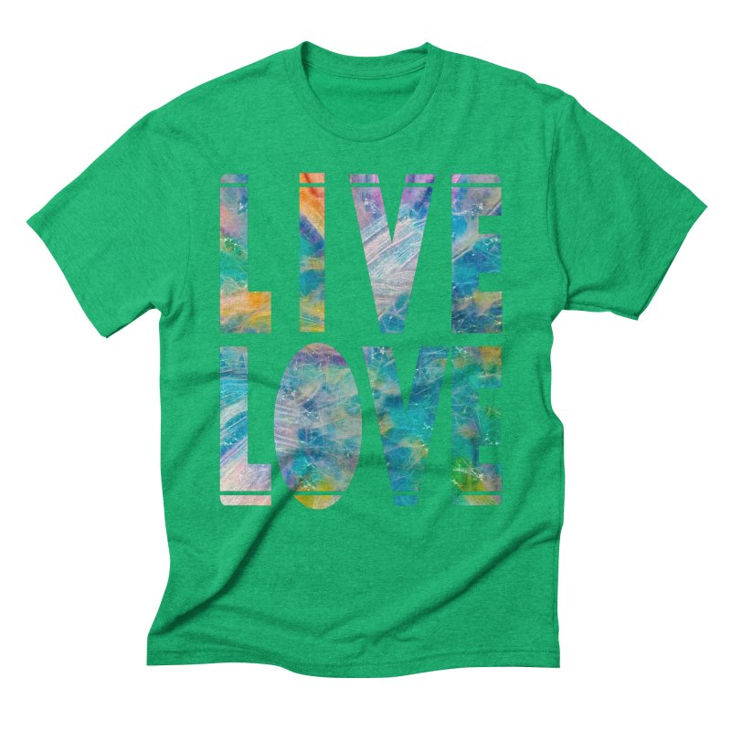 Live Love Men's Triblend T-Shirt by An Authentic Piece