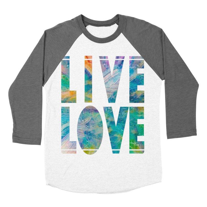 Live Love Women's Baseball Triblend Longsleeve T-Shirt by An Authentic Piece