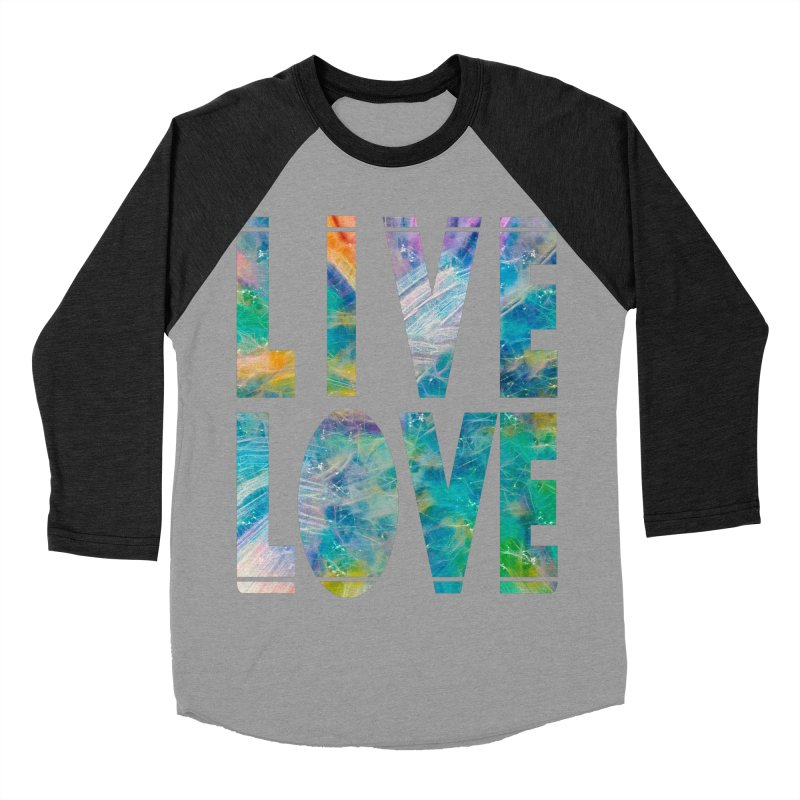Live Love Women's Baseball Triblend Longsleeve T-Shirt by An Authentic Piece