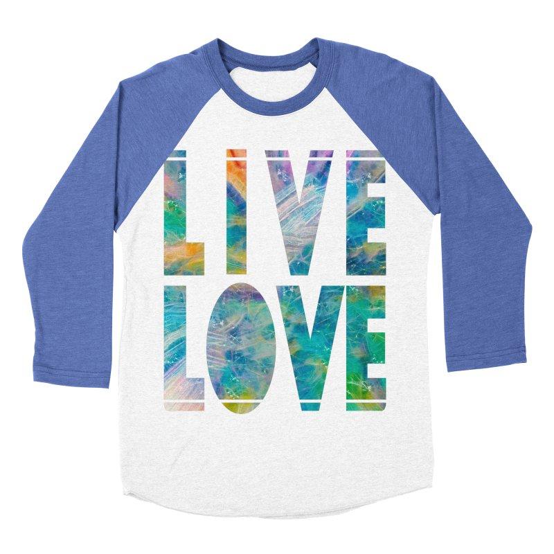 Live Love Men's Baseball Triblend Longsleeve T-Shirt by An Authentic Piece