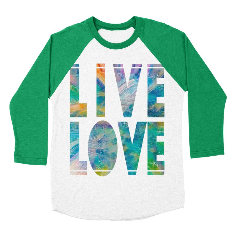 Live Love Men's Baseball Triblend Longsleeve T-Shirt by An Authentic Piece