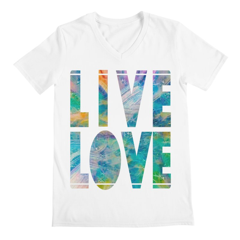 Live Love Men's Regular V-Neck by An Authentic Piece