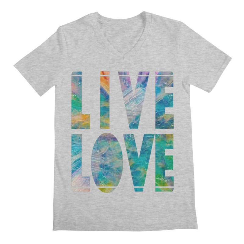 Live Love Men's Regular V-Neck by An Authentic Piece