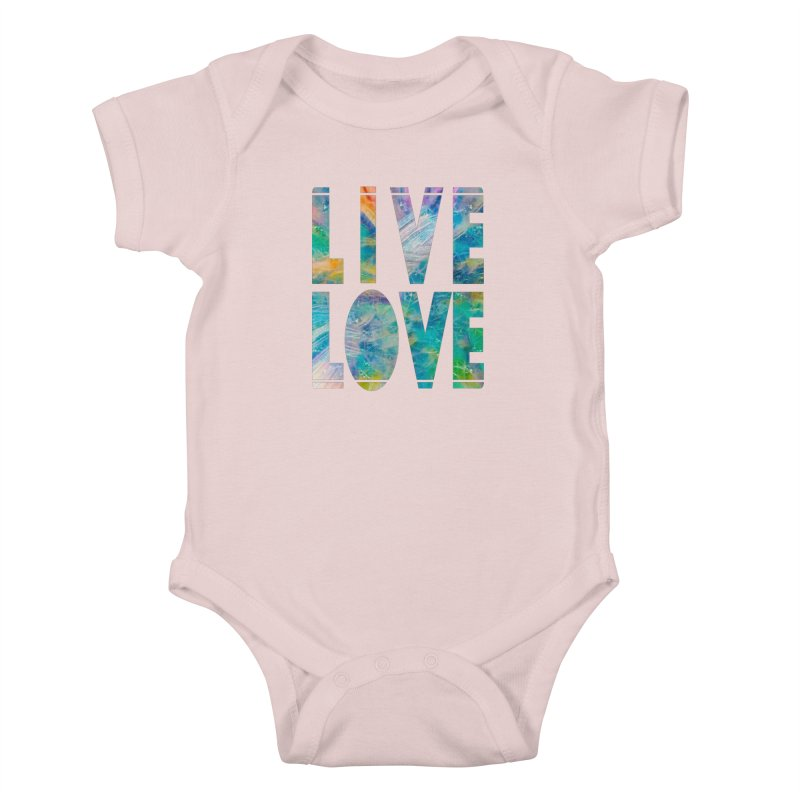 Live Love Kids Baby Bodysuit by An Authentic Piece
