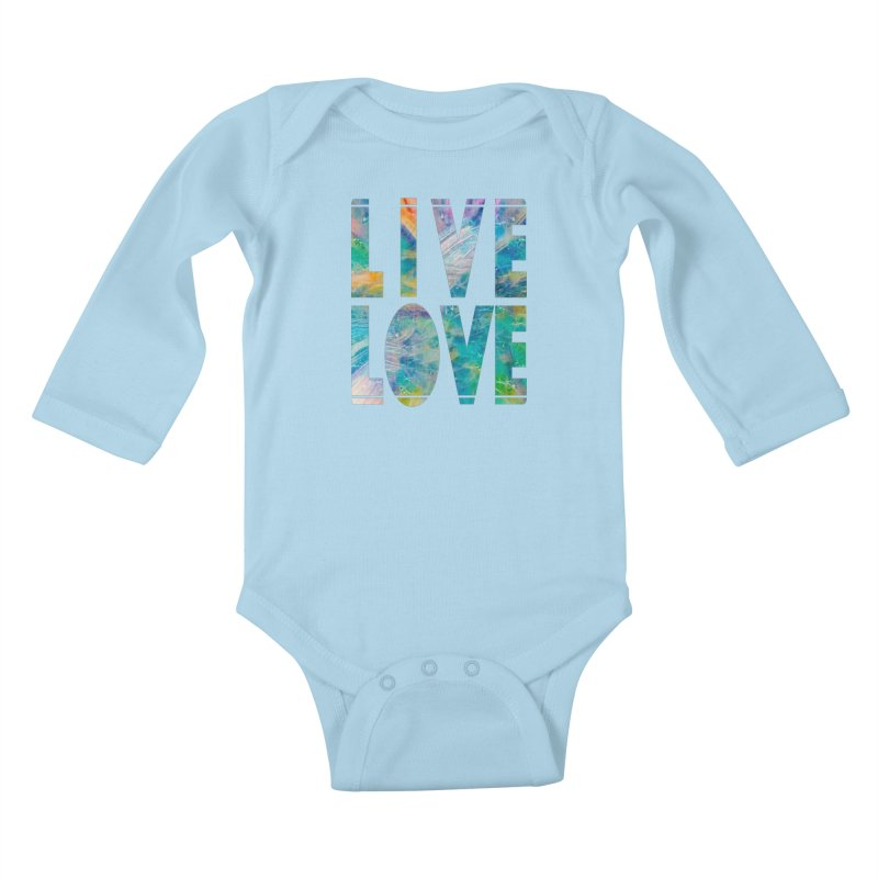 Live Love Kids Baby Longsleeve Bodysuit by An Authentic Piece