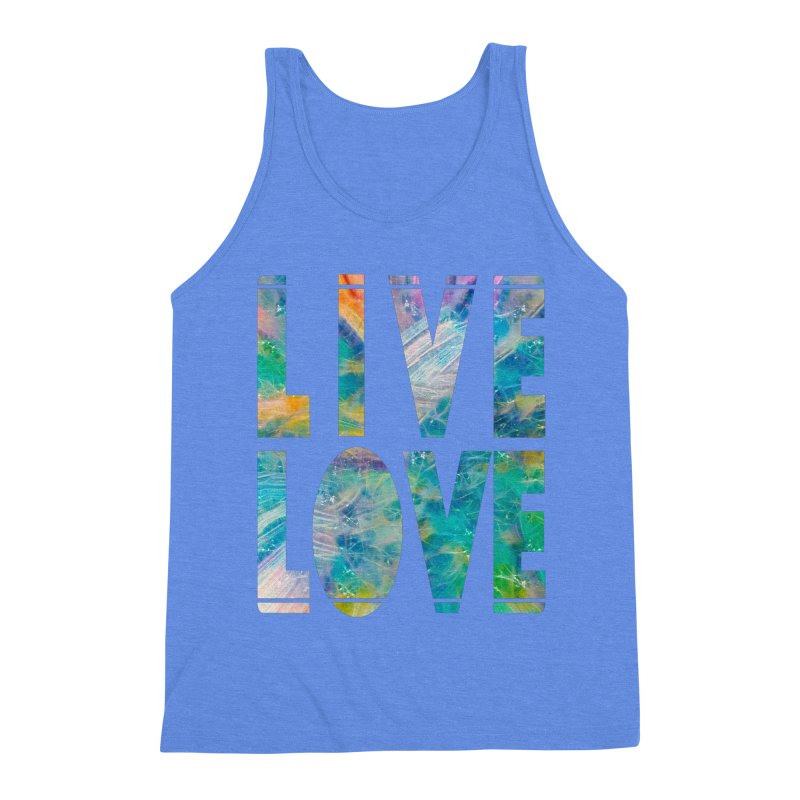 Live Love Men's Triblend Tank by An Authentic Piece