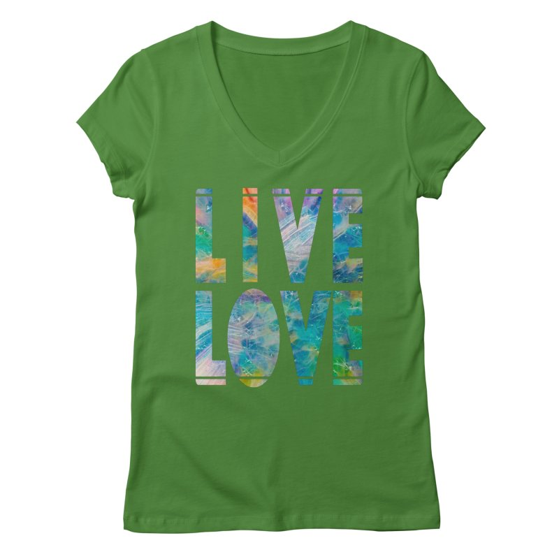 Live Love Women's Regular V-Neck by An Authentic Piece