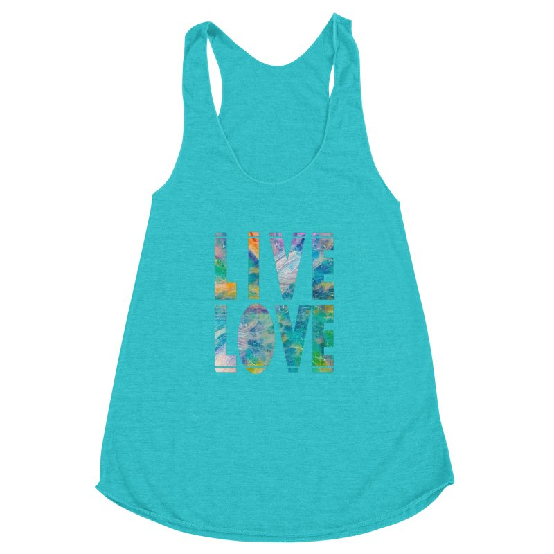 Live Love Women's Racerback Triblend Tank by An Authentic Piece