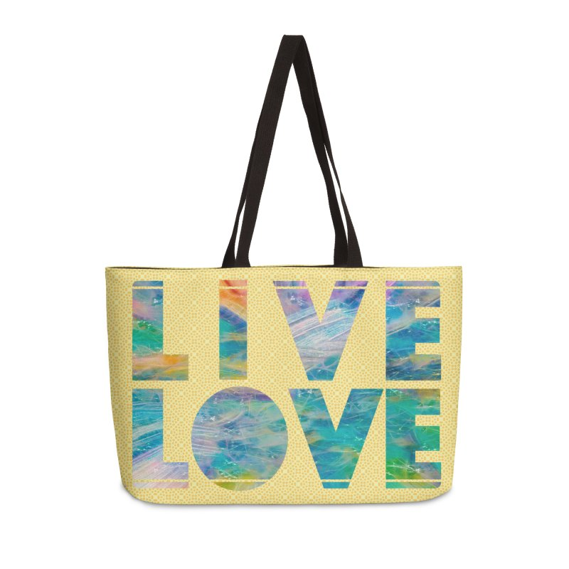 Live Love Accessories Weekender Bag Bag by An Authentic Piece
