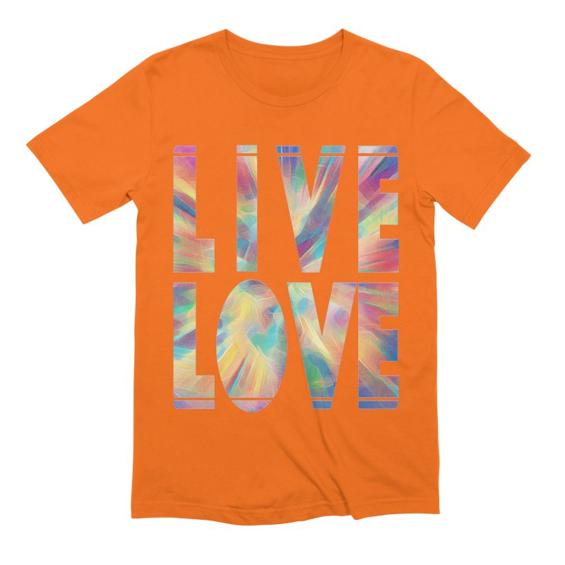 Live Love with Pride Men's Extra Soft T-Shirt by An Authentic Piece