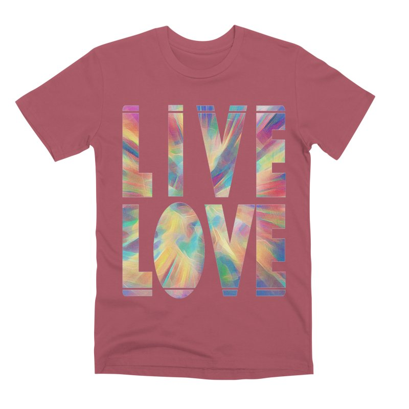 Live Love with Pride Men's Premium T-Shirt by An Authentic Piece