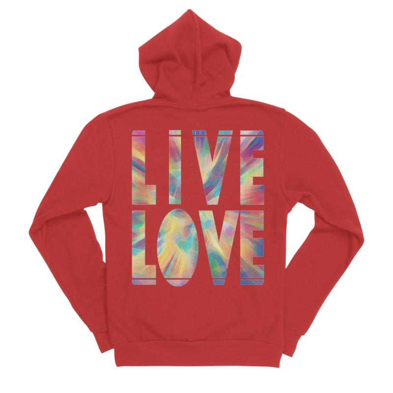 Live Love with Pride Men's Sponge Fleece Zip-Up Hoody by An Authentic Piece
