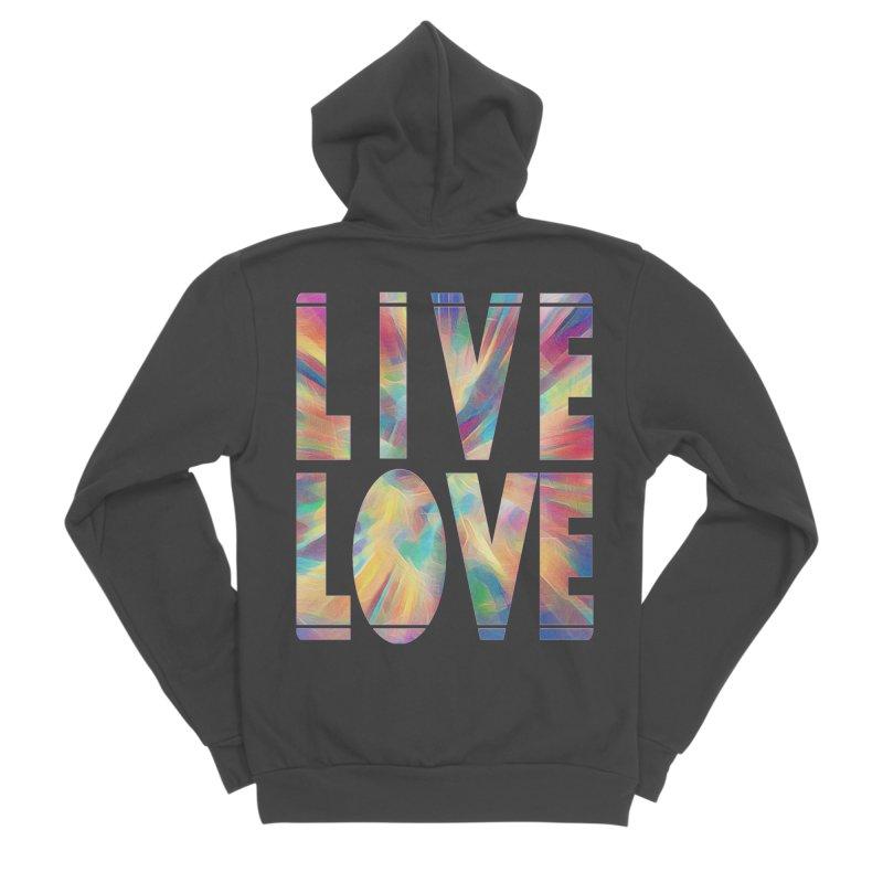 Live Love with Pride Women's Sponge Fleece Zip-Up Hoody by An Authentic Piece