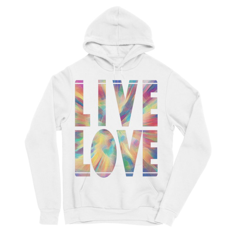 Live Love with Pride Men's Sponge Fleece Pullover Hoody by An Authentic Piece