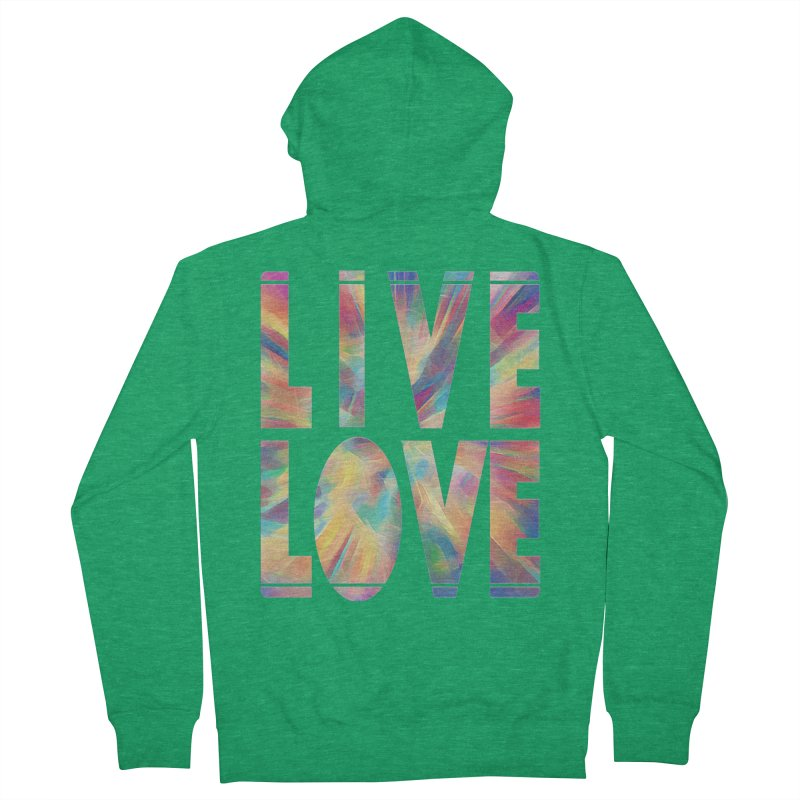 Live Love with Pride Men's French Terry Zip-Up Hoody by An Authentic Piece