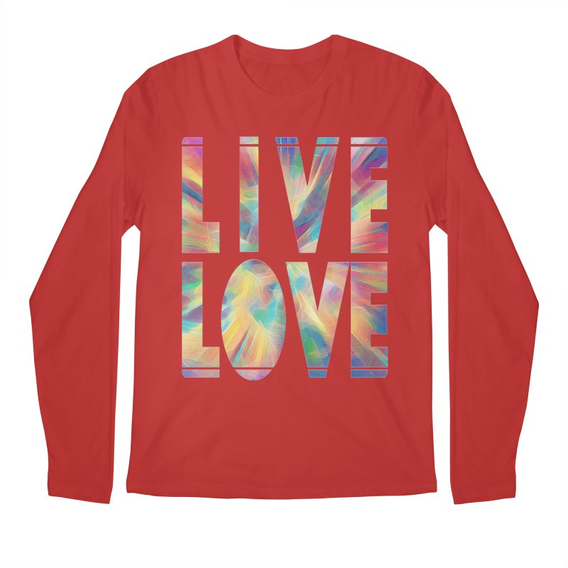 Live Love with Pride Men's Regular Longsleeve T-Shirt by An Authentic Piece