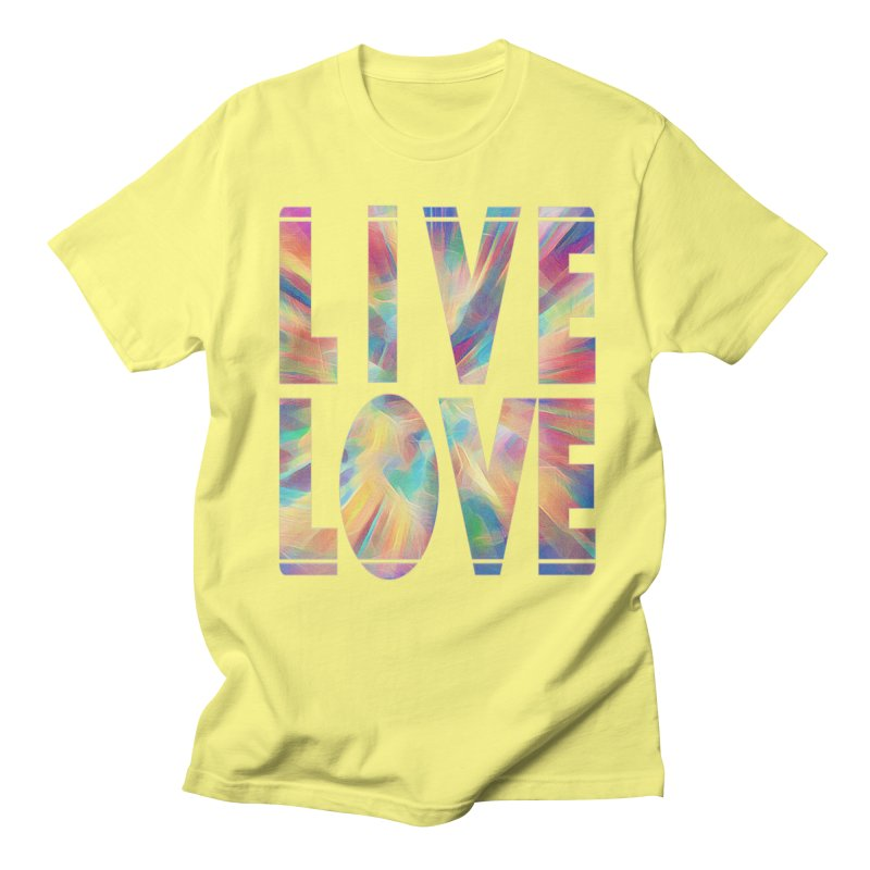 Live Love with Pride Men's Regular T-Shirt by An Authentic Piece