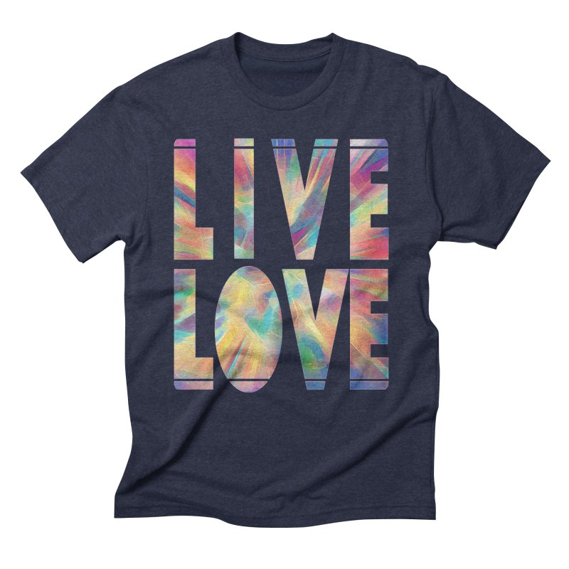 Live Love with Pride Men's Triblend T-Shirt by An Authentic Piece