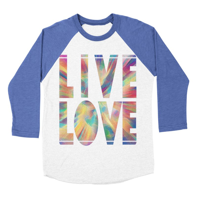 Live Love with Pride Women's Baseball Triblend Longsleeve T-Shirt by An Authentic Piece