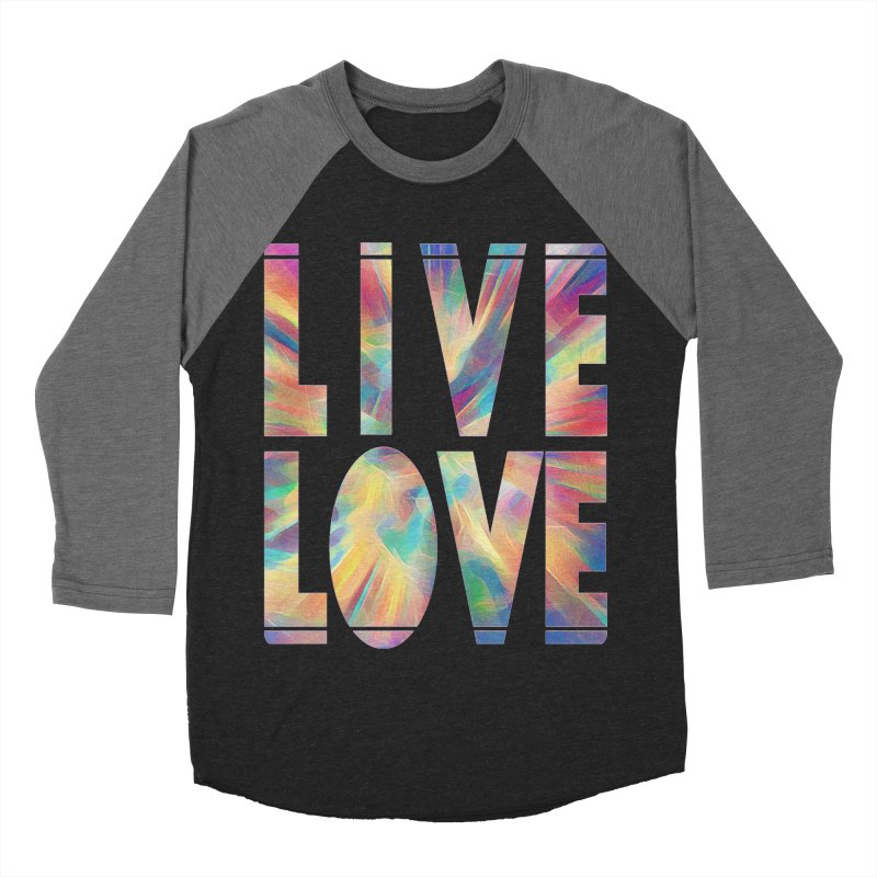 Live Love with Pride Men's Baseball Triblend Longsleeve T-Shirt by An Authentic Piece