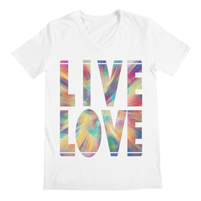 Live Love with Pride Men's Regular V-Neck by An Authentic Piece