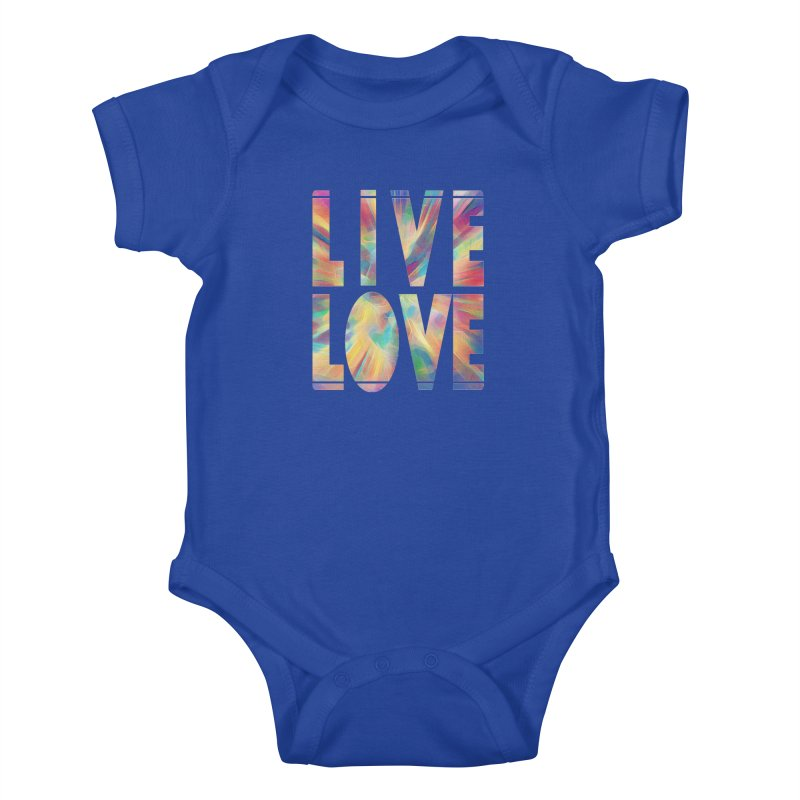 Live Love with Pride Kids Baby Bodysuit by An Authentic Piece