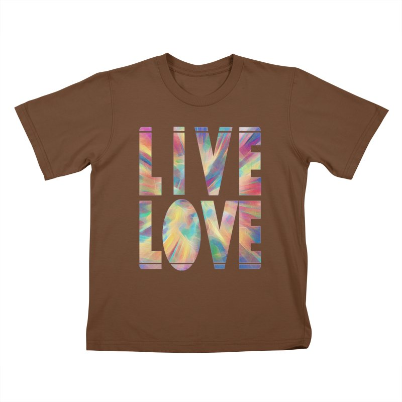 Live Love with Pride Kids T-Shirt by An Authentic Piece