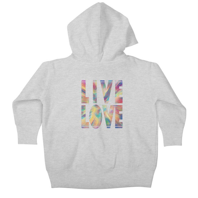 Live Love with Pride Kids Baby Zip-Up Hoody by An Authentic Piece