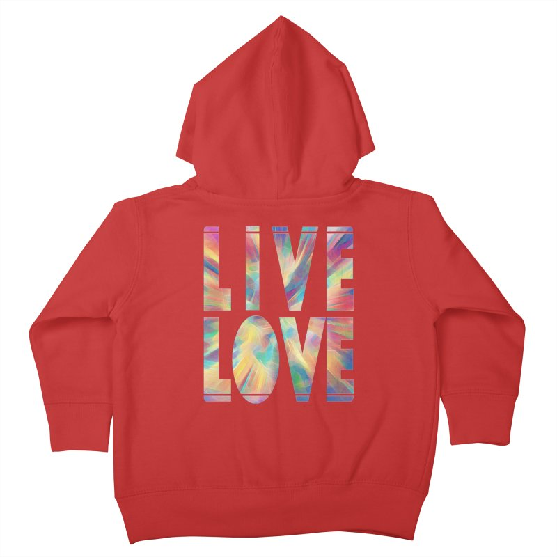 Live Love with Pride Kids Toddler Zip-Up Hoody by An Authentic Piece