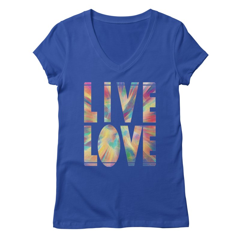 Live Love with Pride Women's Regular V-Neck by An Authentic Piece