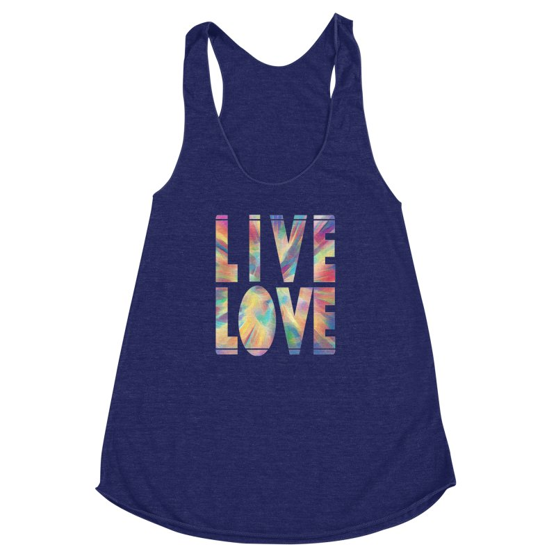 Live Love with Pride Women's Racerback Triblend Tank by An Authentic Piece