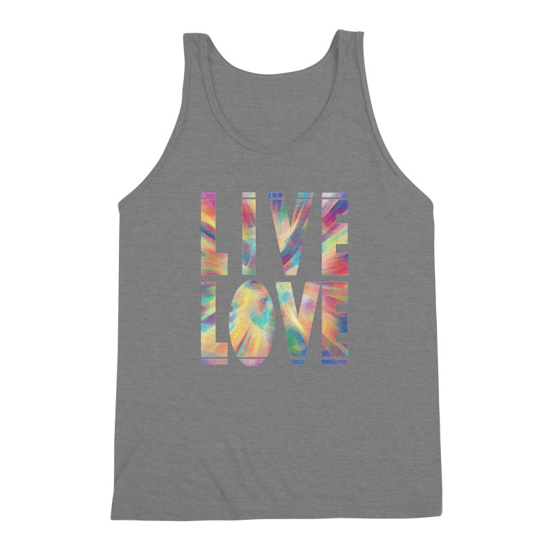 Live Love with Pride Men's Triblend Tank by An Authentic Piece
