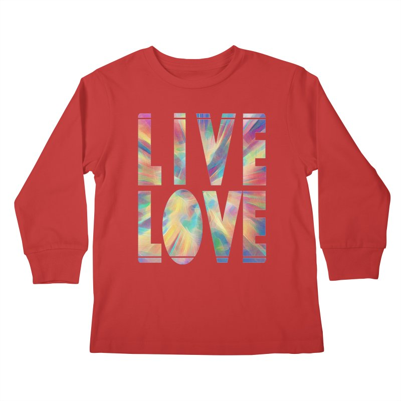Live Love with Pride Kids Longsleeve T-Shirt by An Authentic Piece