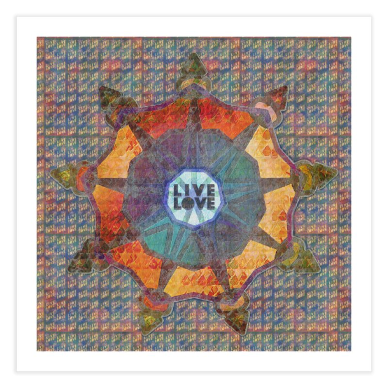Guided by Living Love Home Fine Art Print by An Authentic Piece