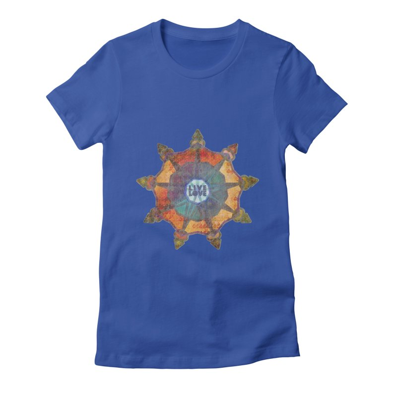 Guided by Living Love Women's Fitted T-Shirt by An Authentic Piece