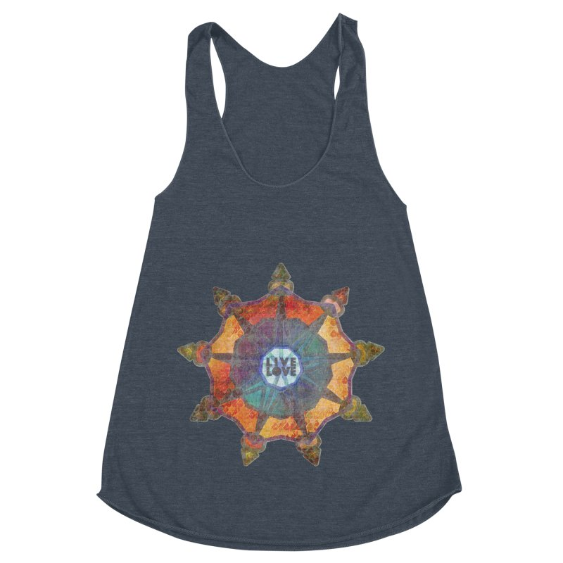 Guided by Living Love Women's Racerback Triblend Tank by An Authentic Piece