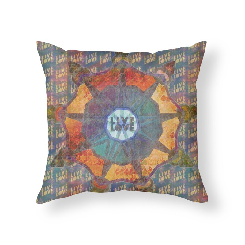 Guided by Living Love Home Throw Pillow by An Authentic Piece