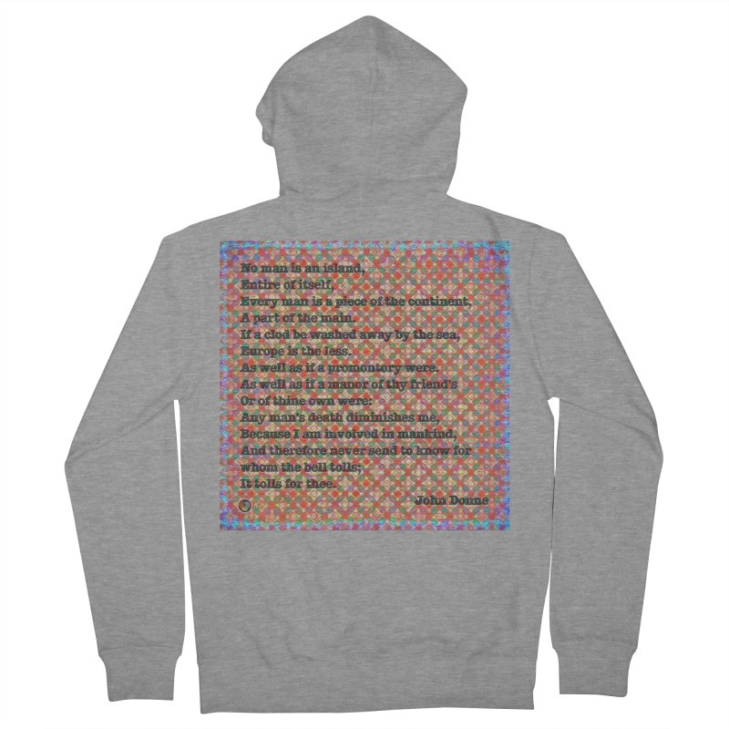 No Man Is An Island Men's French Terry Zip-Up Hoody by An Authentic Piece
