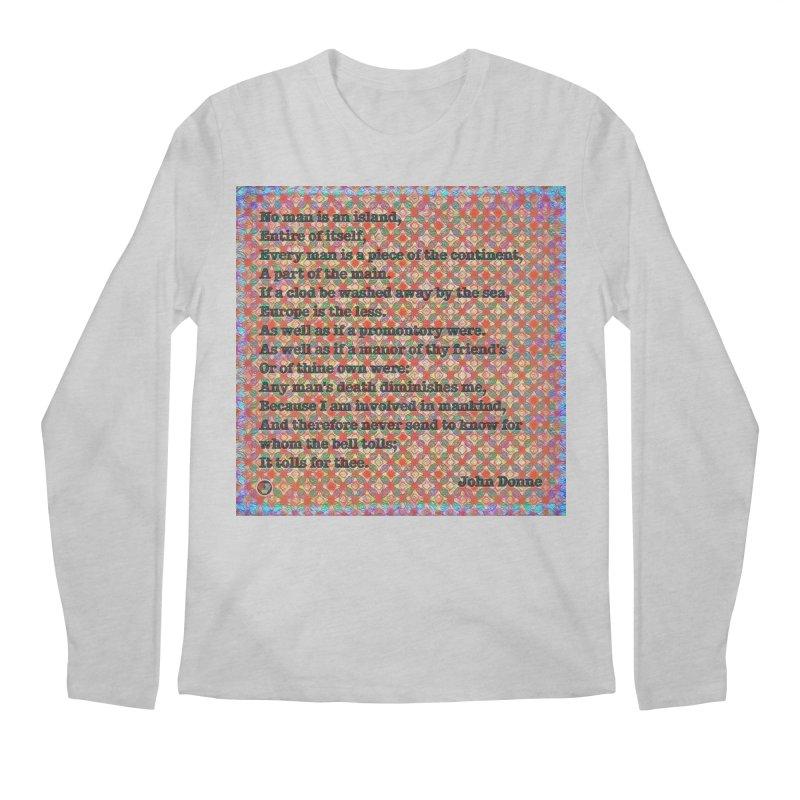 No Man Is An Island Men's Regular Longsleeve T-Shirt by An Authentic Piece
