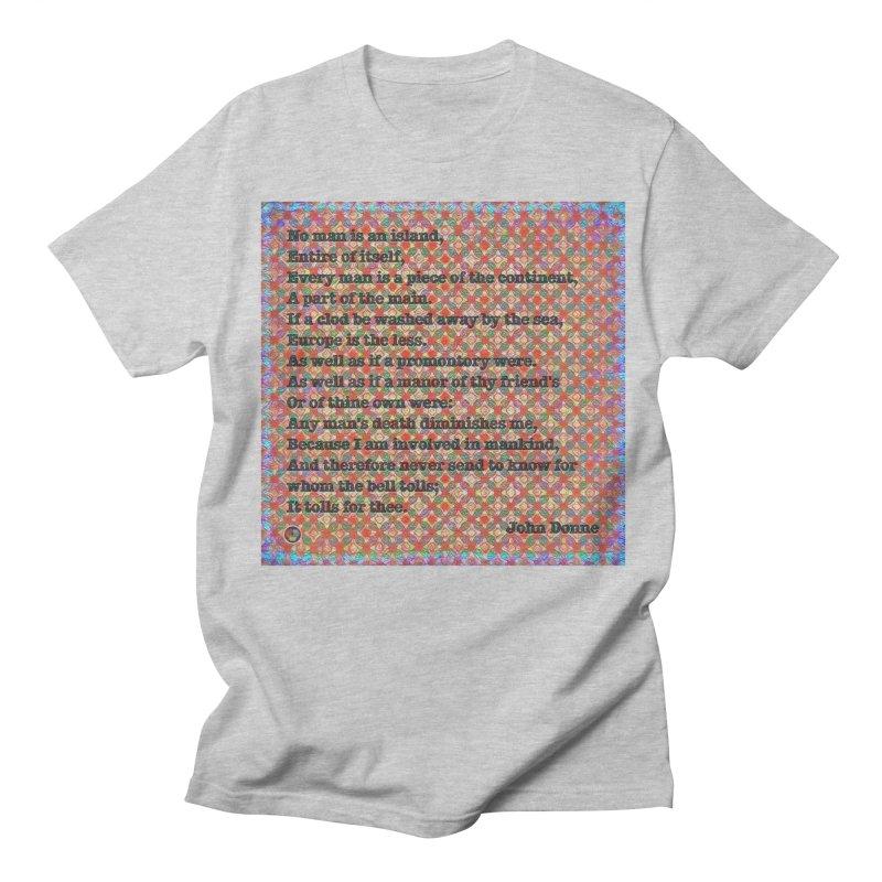 No Man Is An Island Men's Regular T-Shirt by An Authentic Piece