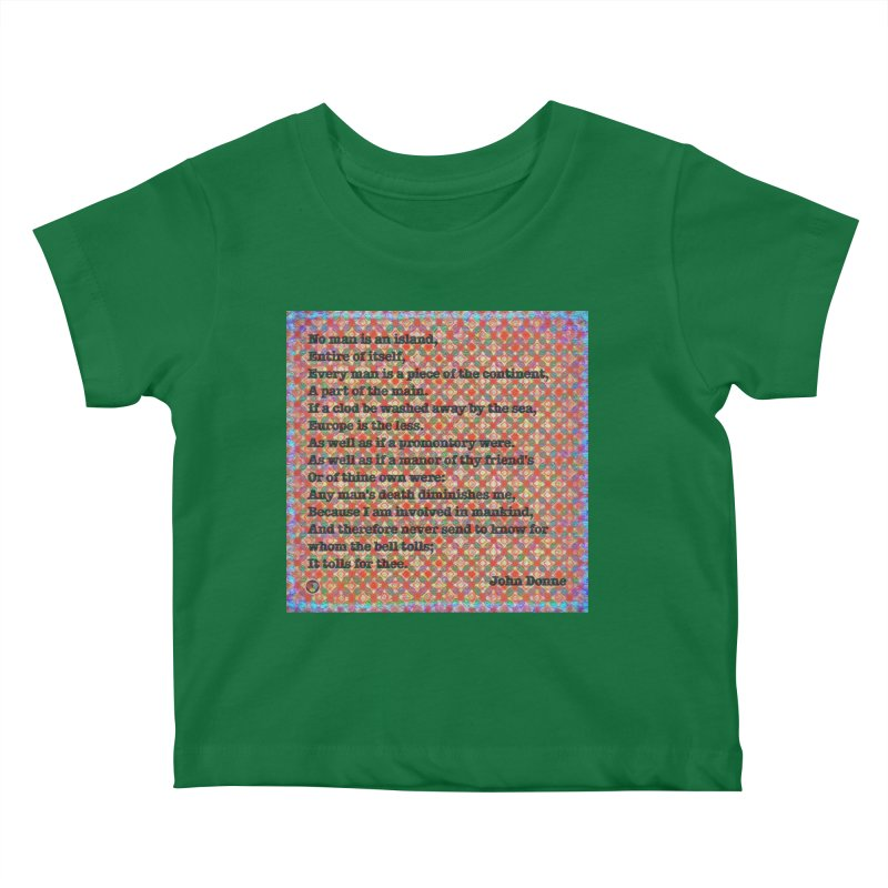 No Man Is An Island Kids Baby T-Shirt by An Authentic Piece