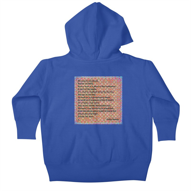No Man Is An Island Kids Baby Zip-Up Hoody by An Authentic Piece