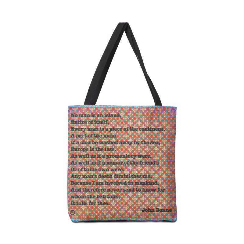 No Man Is An Island Accessories Tote Bag Bag by An Authentic Piece