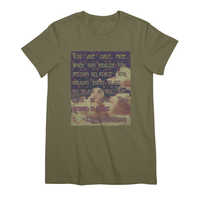 Everywhere & Nowhere - The Same Place Women's Premium T-Shirt by An Authentic Piece