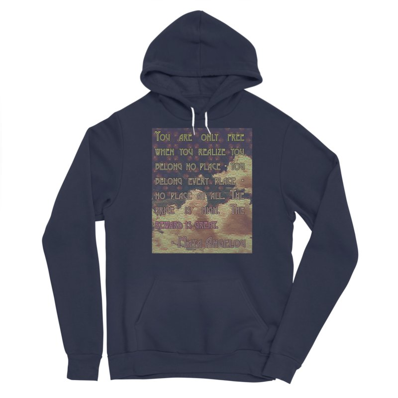 Everywhere & Nowhere - The Same Place Women's Sponge Fleece Pullover Hoody by An Authentic Piece
