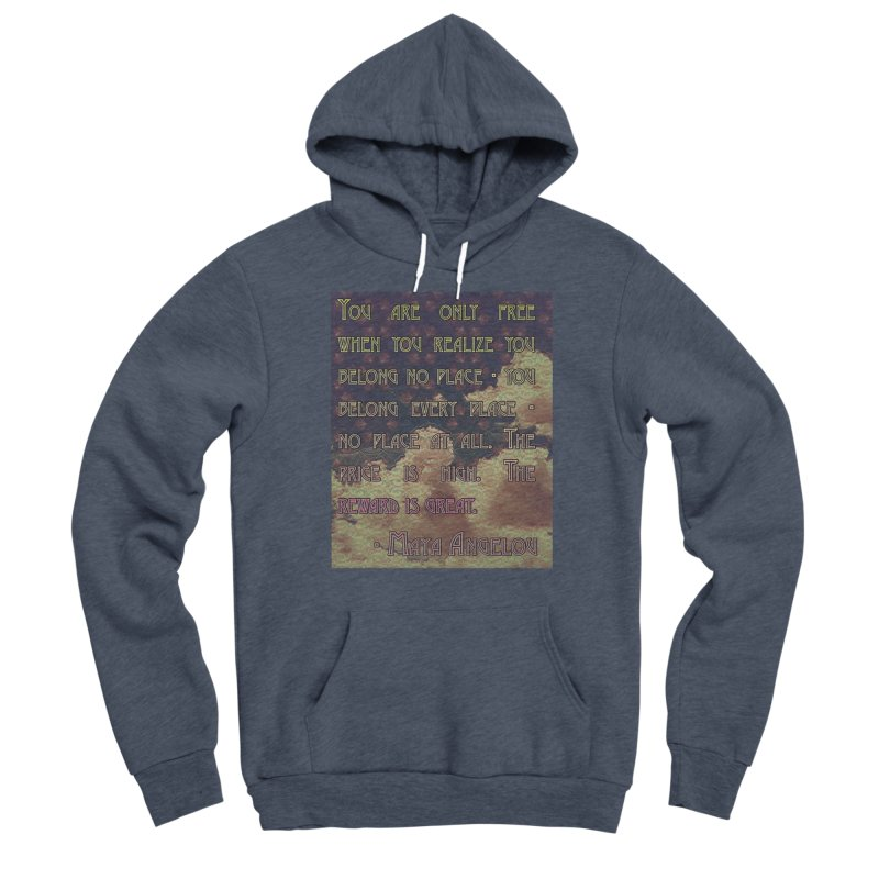 Everywhere & Nowhere - The Same Place Men's Sponge Fleece Pullover Hoody by An Authentic Piece
