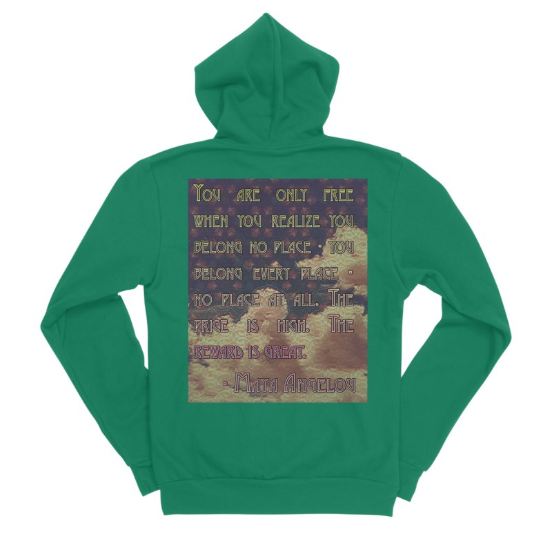Everywhere & Nowhere - The Same Place Women's Sponge Fleece Zip-Up Hoody by An Authentic Piece