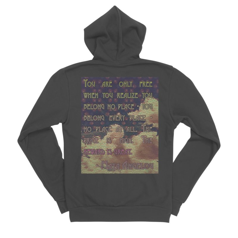 Everywhere & Nowhere - The Same Place Men's Sponge Fleece Zip-Up Hoody by An Authentic Piece