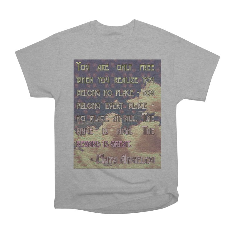 Everywhere & Nowhere - The Same Place Men's Heavyweight T-Shirt by An Authentic Piece